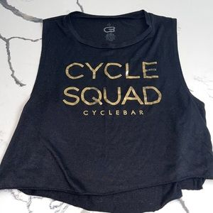 cyclebar Cycle Squad Cropped Tank Top L